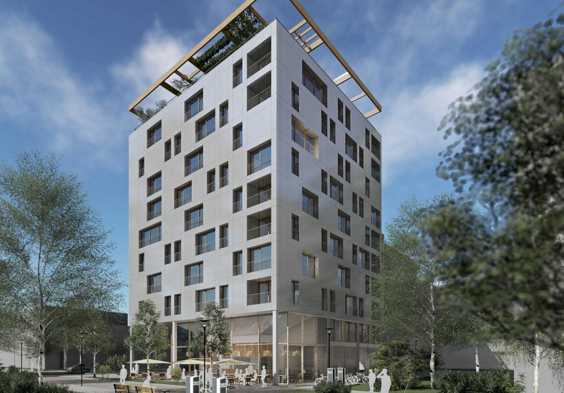 Holzhaus im Stadtteil Neckarbogen, Baujahr 2018/2019