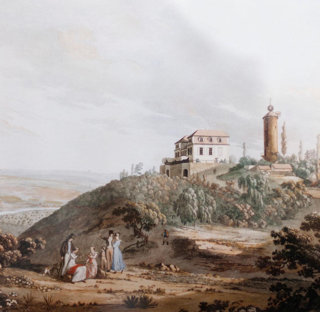 Gouachemalerei von Carl Friedrich Dörr (1820)