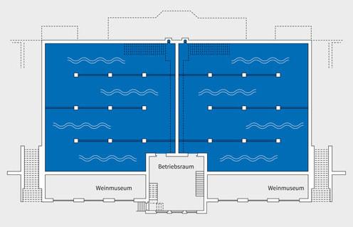 HOCHDRUCKWASSERBEHÄLTER AM WARTBERG (GRUNDRISS)